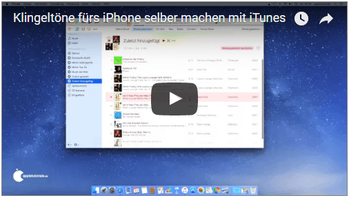 video mit itunes klingelt ne f rs iphone erstellen. Black Bedroom Furniture Sets. Home Design Ideas