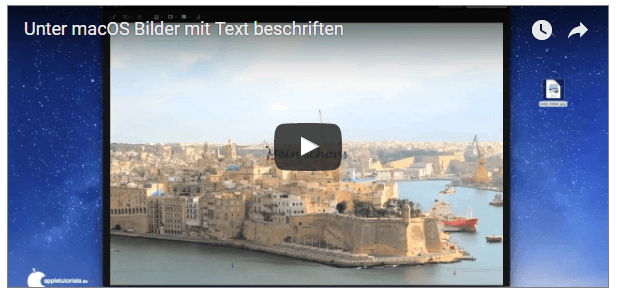 Video Fotos am Mac mit Text beschriften